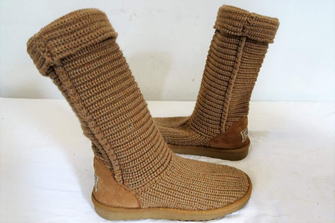 Awesome Ugg Australia Classic Crochet Boot Light Brown Sn 5819 Uk Crochet Uggs Boots Of New 45 Ideas Crochet Uggs Boots
