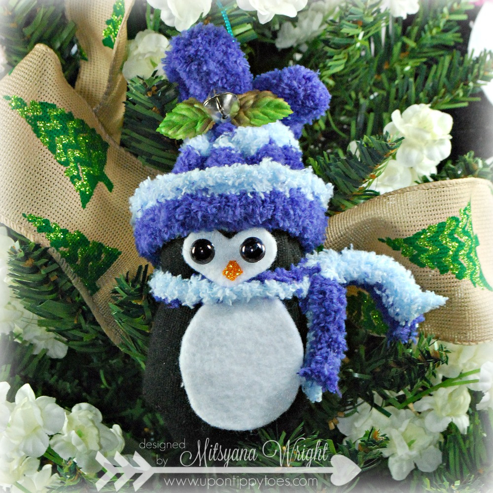 Up Tippy Toes No Sew Sock Penguin Christmas Ornaments