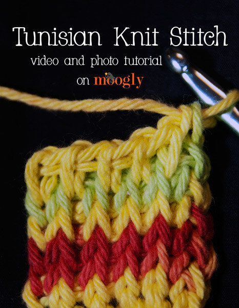 Awesome Video and Tutorial Tunisian Knit Stitch Moogly Tunisian Crochet Knit Stitch Of Superb 46 Pictures Tunisian Crochet Knit Stitch