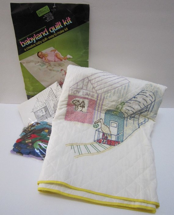 Awesome Vintage Baby Blanket Kit Baby Quilt Kits W Dmc Embroidery Baby Blanket Kits Of Delightful 48 Pictures Baby Blanket Kits