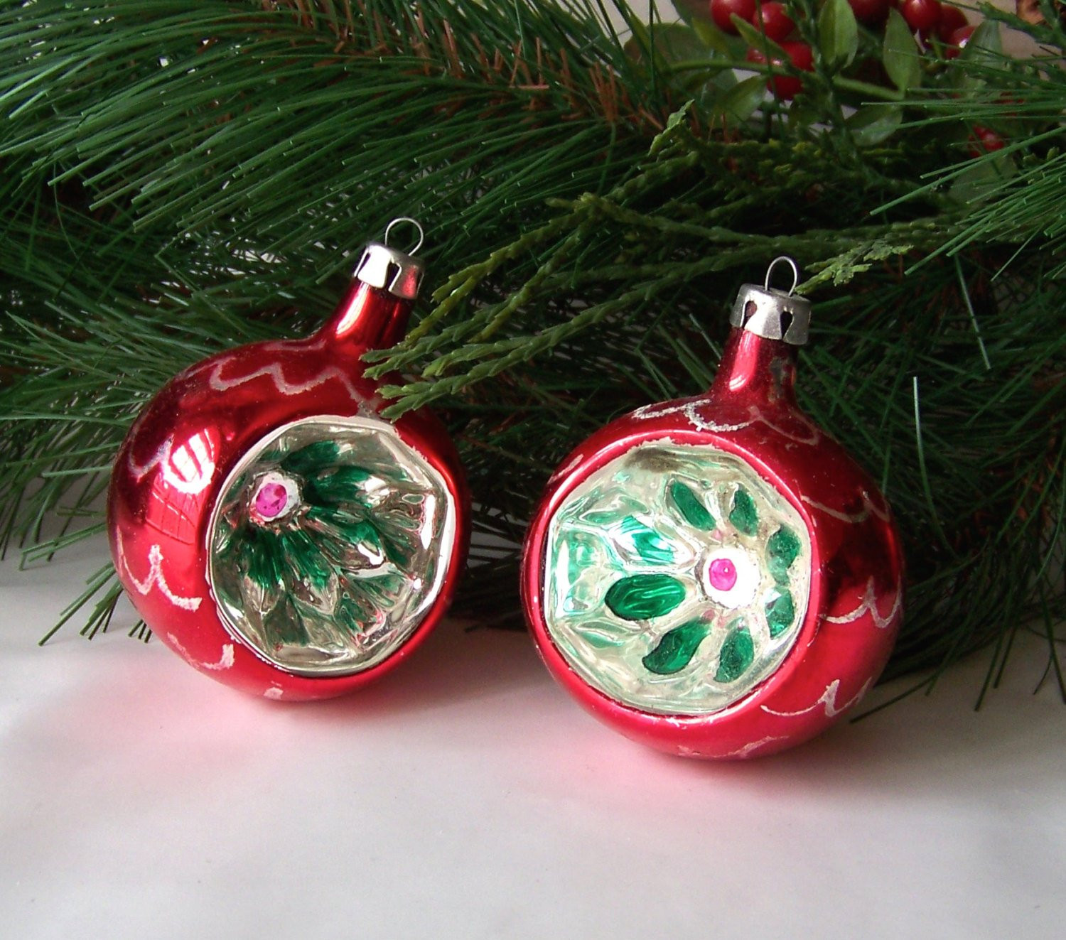 Awesome Vintage Glass Christmas ornaments Glass Ribbed Reflector Vintage Glass ornaments Of New 48 Ideas Vintage Glass ornaments