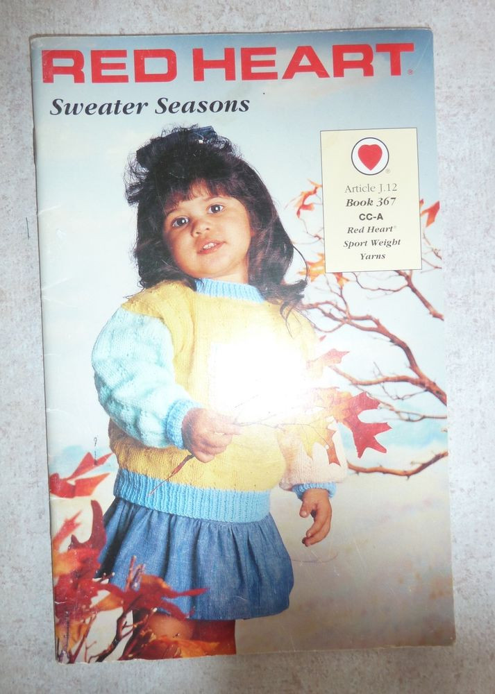 Awesome Vintage Red Heart Sweater Seasons Knitting Pattern Knitting Patterns for Childrens Sweaters Of Charming 47 Models Knitting Patterns for Childrens Sweaters