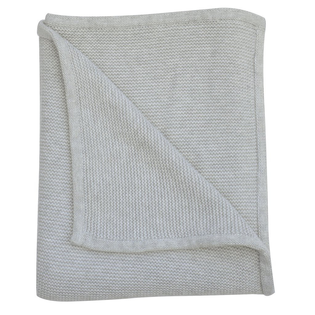 Awesome Wave Knit Luxury Cotton Baby Blanket In Grey Marle – Zulunar Cotton Knit Blanket Of Innovative 42 Models Cotton Knit Blanket