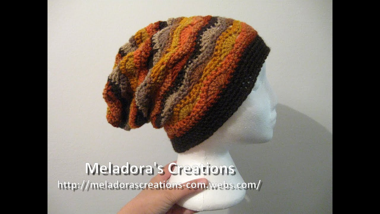 Awesome Wavy Stitch Slouch Hat Crochet Tutorial Crochet Hat Tutorial Of Amazing 45 Ideas Crochet Hat Tutorial