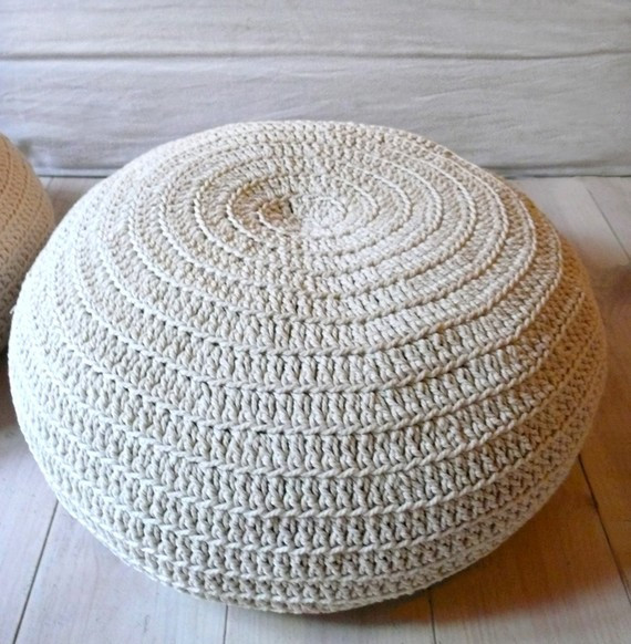 Awesome What A Knit Interior – My Decorator – Helping You Achieve Crochet Floor Pouf Of Luxury 49 Pictures Crochet Floor Pouf