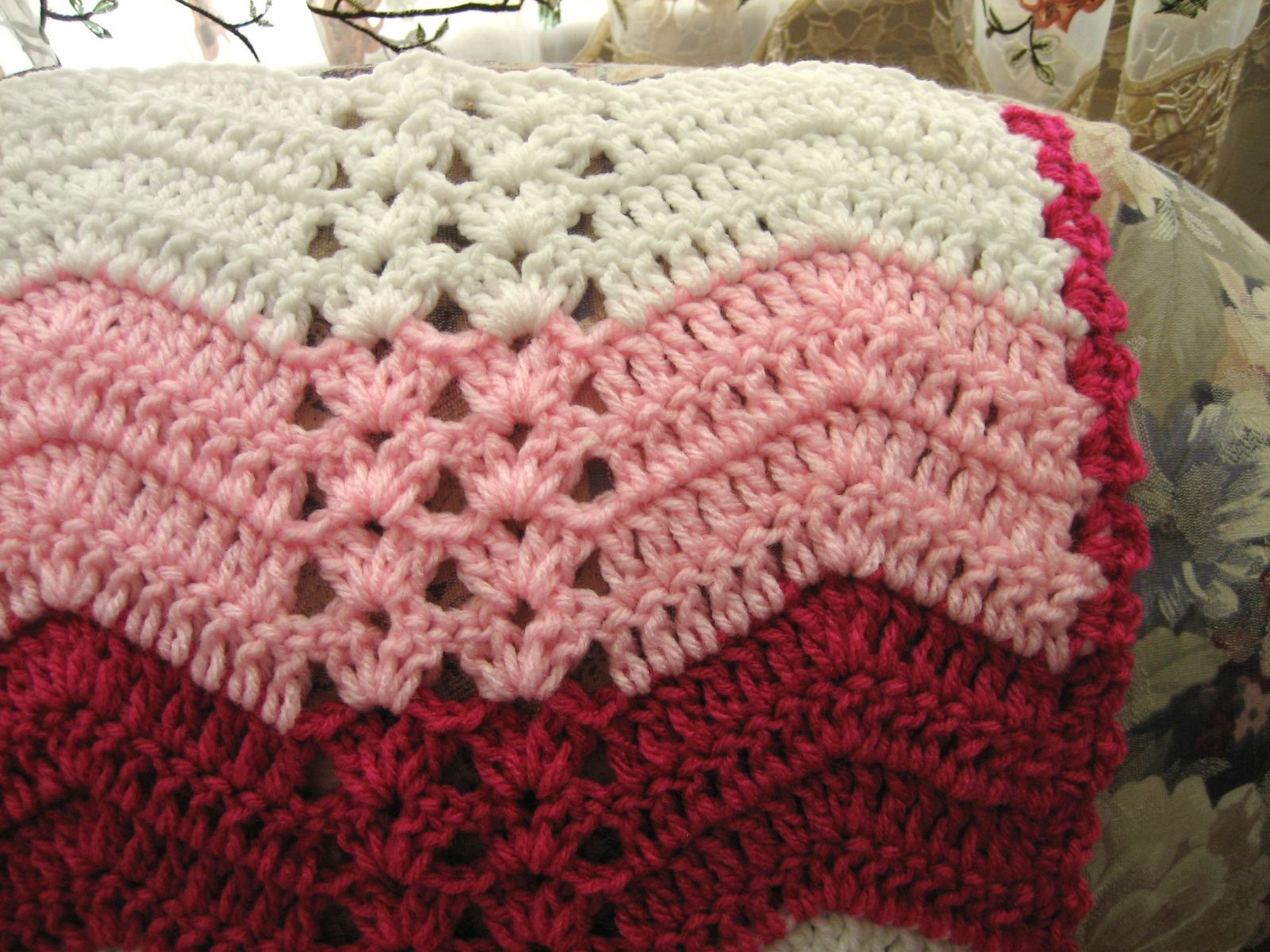 Awesome White Chocolate Strawberry Double Shell Ripple Crochet Afghans Of Marvelous 47 Models Crochet Afghans