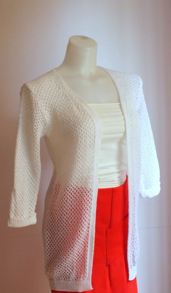 Awesome White Crochet Cardigan Hand Knit Sweater Womens Cardigan Open White Crochet Sweater Of Wonderful 44 Ideas White Crochet Sweater