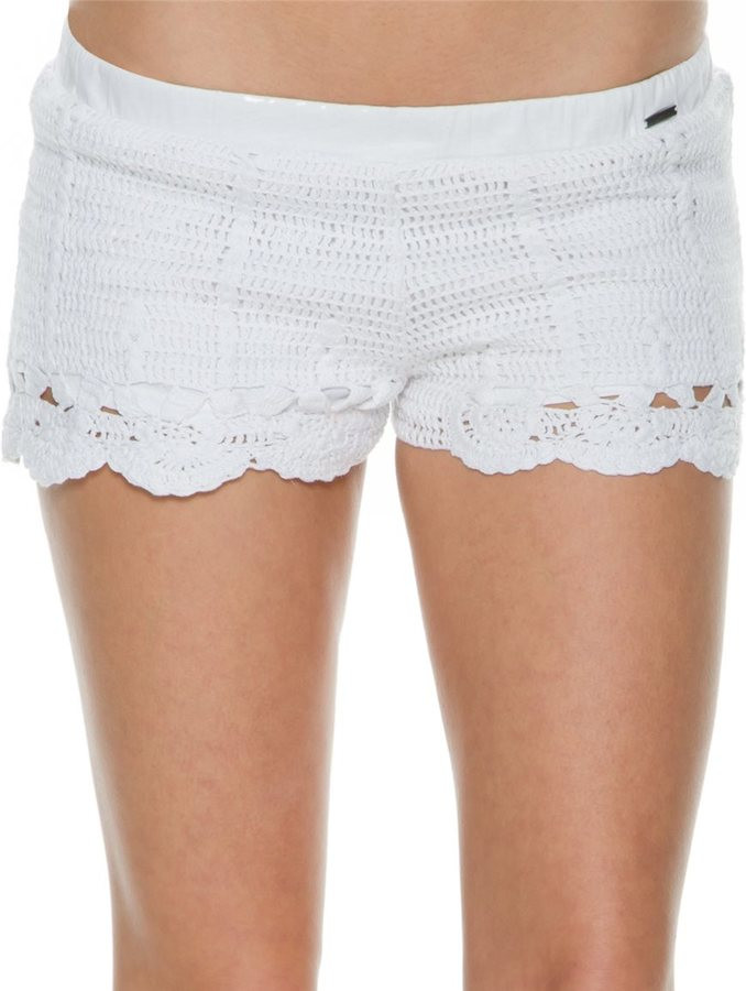 White Crochet Shorts Element Pixie Crochet Lace Short