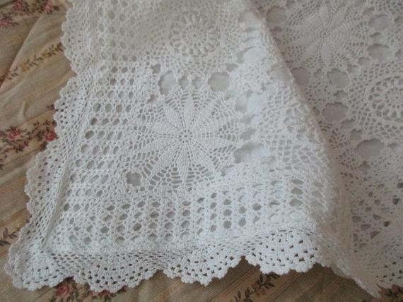 Awesome White Crocheted Pillow Sham Lace Scalloped Cotton Crochet Pillow Shams Of Marvelous 40 Photos Crochet Pillow Shams