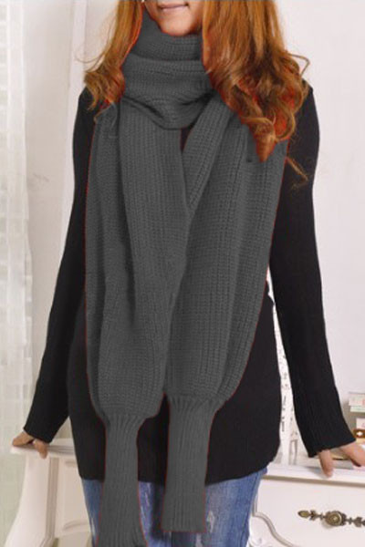 Awesome wholesale Grey Versatile Cozy Knit Scarf with Sleeves Scarf with Sleeves Of Lovely 40 Models Scarf with Sleeves