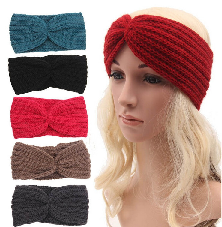 Wholesale Women s Knitted Wide Headband Knit Hair Band
