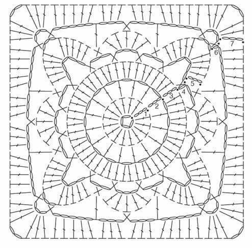 Awesome Willow Square Crochet Blanket – Free Tutorial and Diagram Crochet Pattern Diagram Of Gorgeous 42 Pics Crochet Pattern Diagram