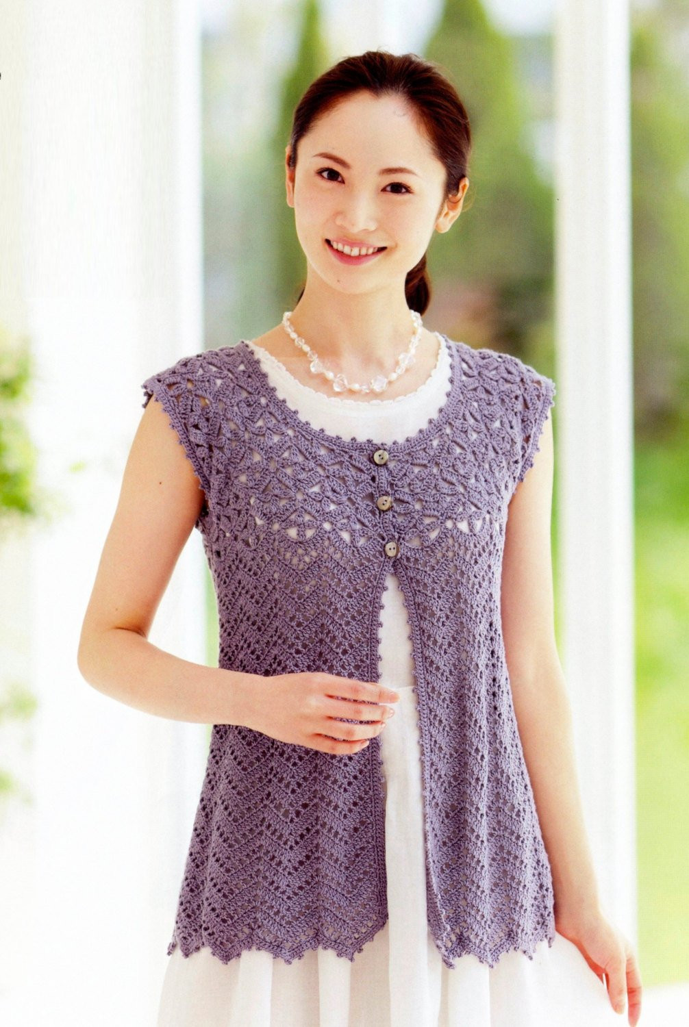 Awesome Woman S Crochet Vest Japanese Crochet Pattern Pdf Charts Free Crochet Womens Vest Patterns Of Great 41 Pics Free Crochet Womens Vest Patterns