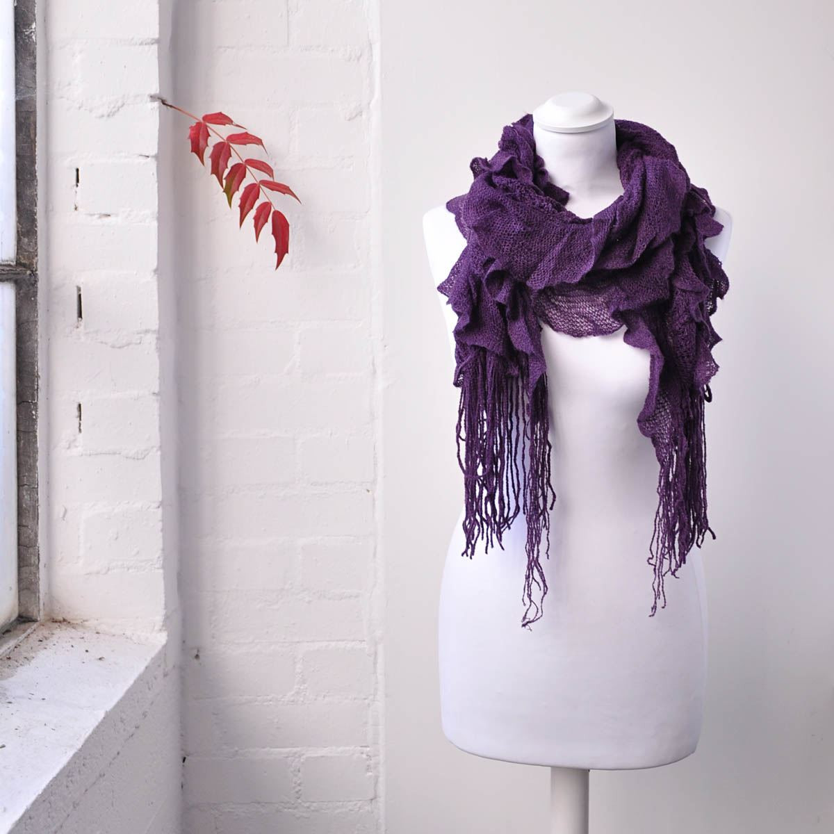 Awesome Women Ruffle Knitted Scarf Elasticated Light Fabric Winter Knit Ruffle Scarf Of Marvelous 50 Pics Knit Ruffle Scarf