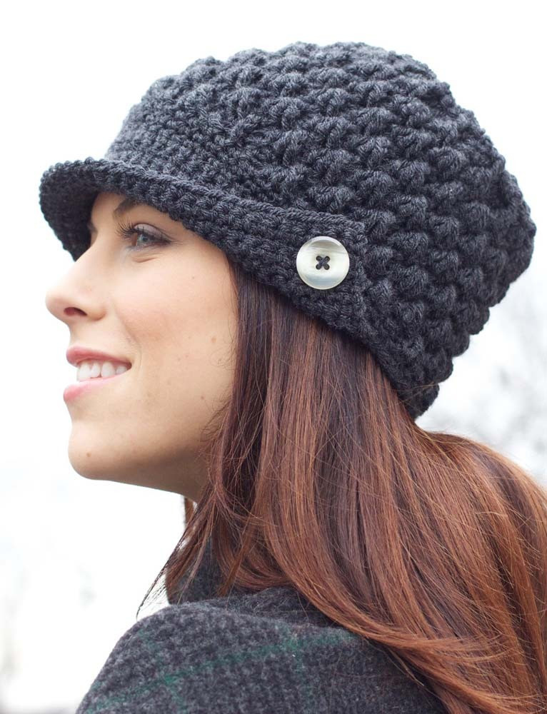 Awesome Women S Peaked Cap In Patons Canadiana Ladies Crochet Hats Of Contemporary 46 Pics Ladies Crochet Hats
