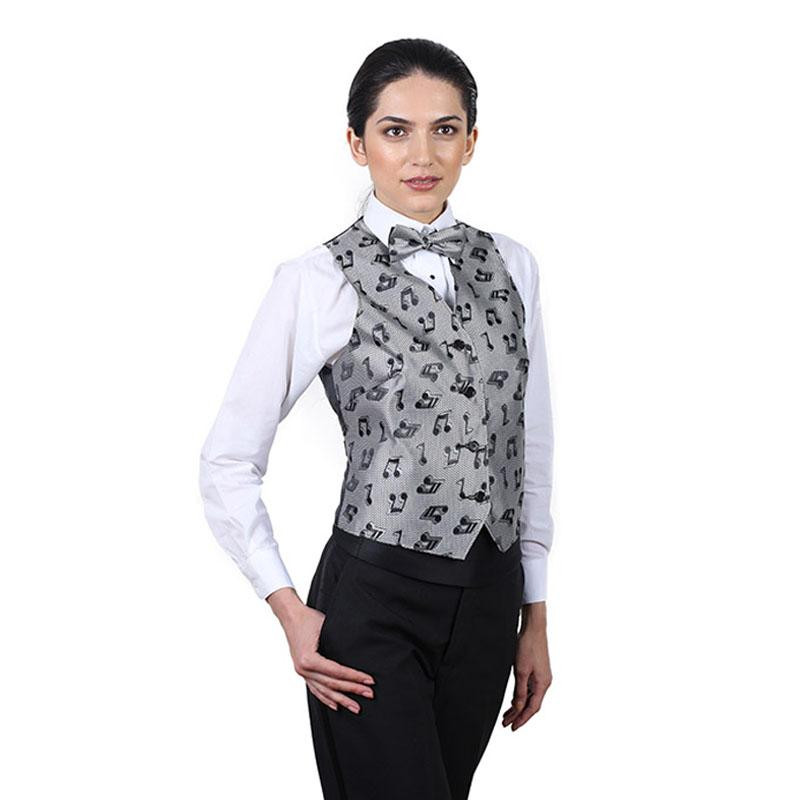 Awesome Women S Silver Music Notes Pattern Vest Womens Vest Pattern Of Amazing 46 Ideas Womens Vest Pattern