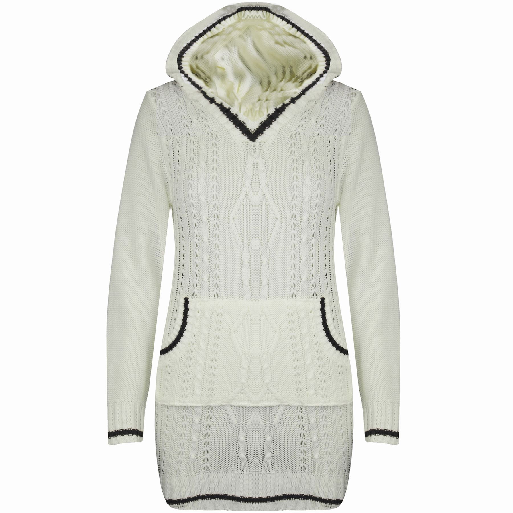 Awesome Womens La S Chunky Cable Knitted Hooded top Pullover Womens Chunky Cable Knit Sweater Of Luxury 45 Models Womens Chunky Cable Knit Sweater