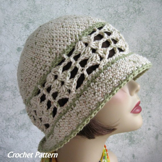 Awesome Womens Summer Crochet Hat Pattern Brimmed with Shell Stitch Crochet Hat with Brim Pattern Of Contemporary 46 Photos Crochet Hat with Brim Pattern