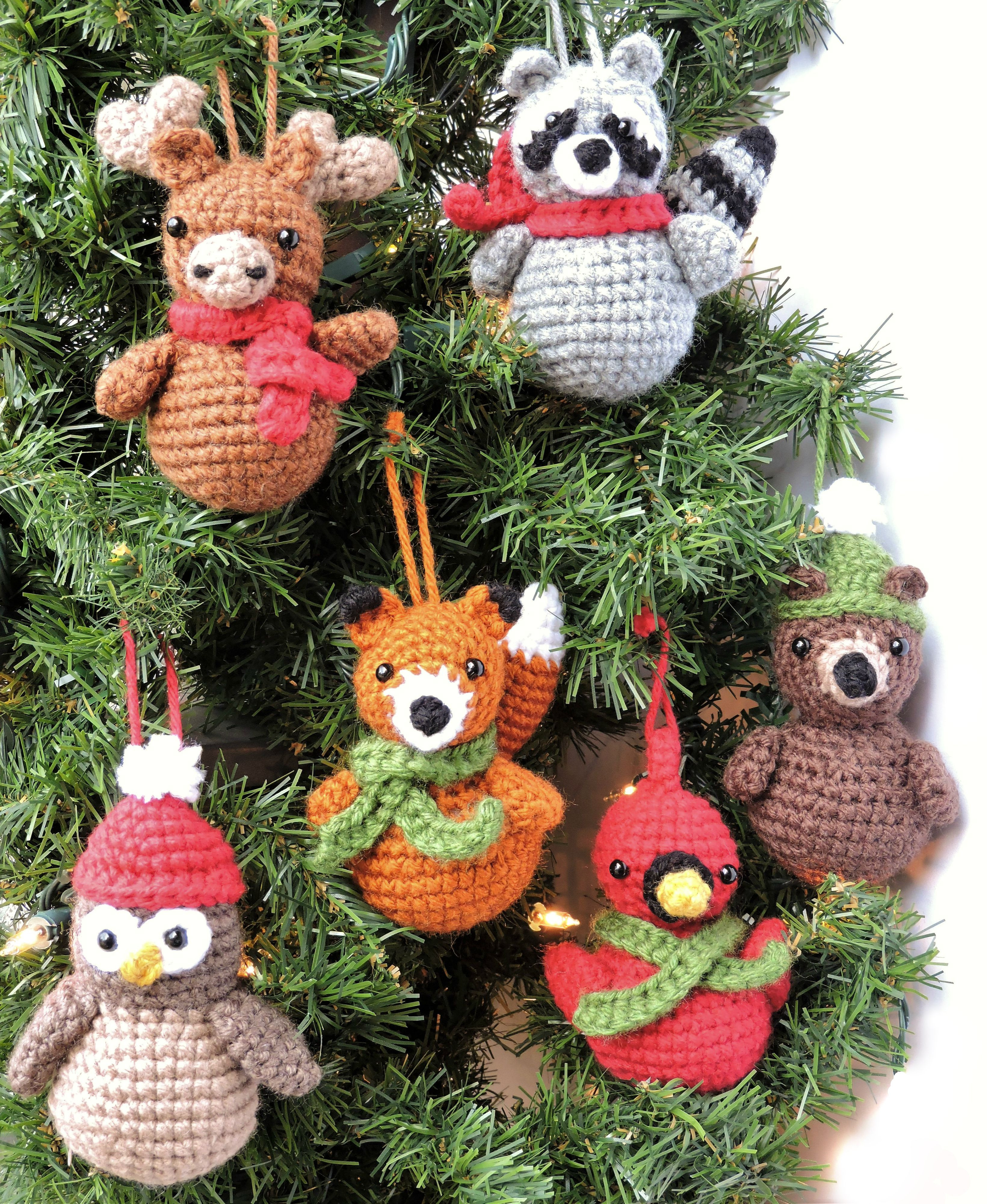 Awesome Woodland Animal ornaments Crochet Pattern Crochet Christmas ornaments Patterns Of Unique 47 Pics Crochet Christmas ornaments Patterns