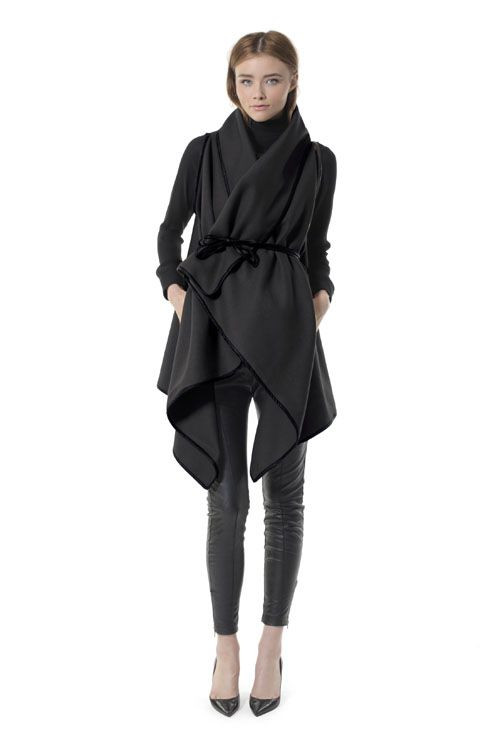 Awesome Wool and Leather Poncho American Co Heidi Merrick $385 Cool Ponchos Of Luxury 46 Pics Cool Ponchos