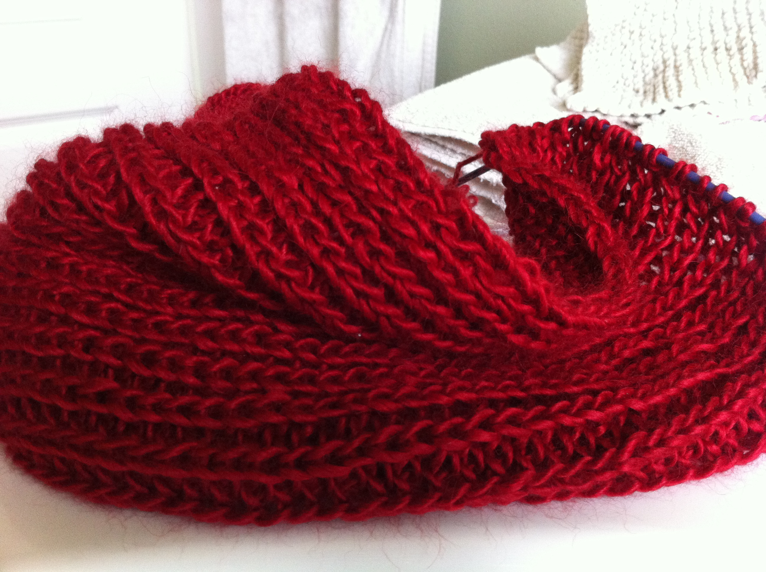 Awesome Yarn Along and the Winner is… Yarn Scarf Of Attractive 49 Photos Yarn Scarf