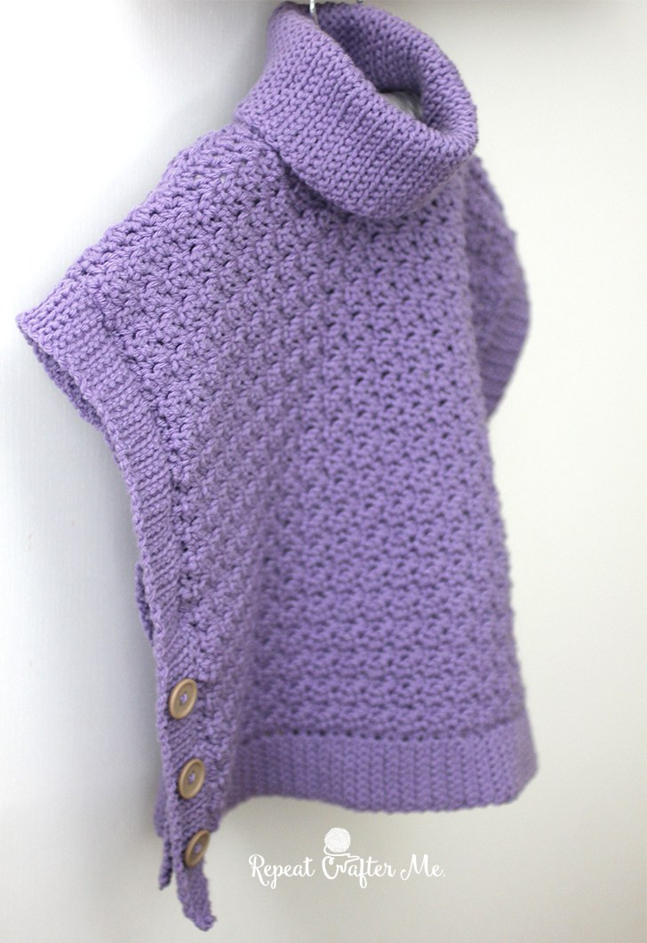 Awesome Yarnspirations Crochet Poncho for You and Me and Giveaway Crochet Poncho Of Incredible 40 Photos Crochet Poncho