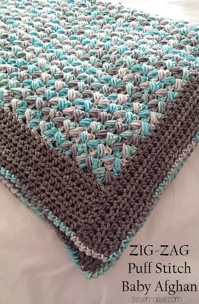 Baby Afghan Crochet Patterns Inspirational [free Pattern] Simple soft and Puffy Zig Zag Puff Stitch Of Beautiful 49 Photos Baby Afghan Crochet Patterns