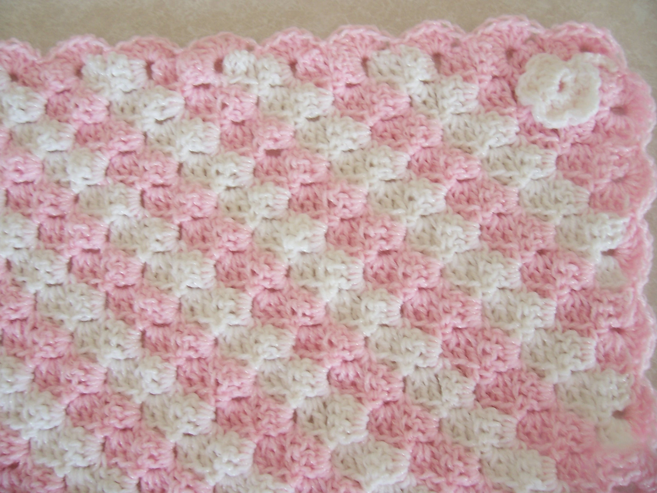Baby Afghan Patterns Beautiful Afghan Crochet Pattern Pink White – Crochet Patterns Of Amazing 46 Ideas Baby Afghan Patterns