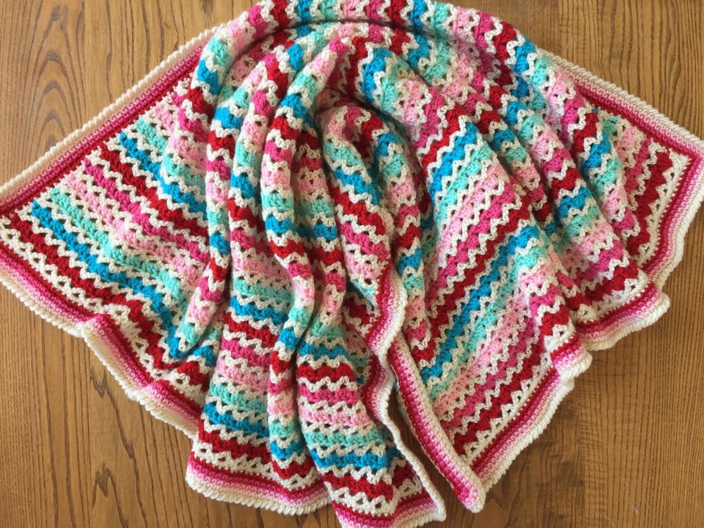 Baby Afghan Patterns Inspirational Little Flower Granny V Stitch Blanket Of Amazing 46 Ideas Baby Afghan Patterns