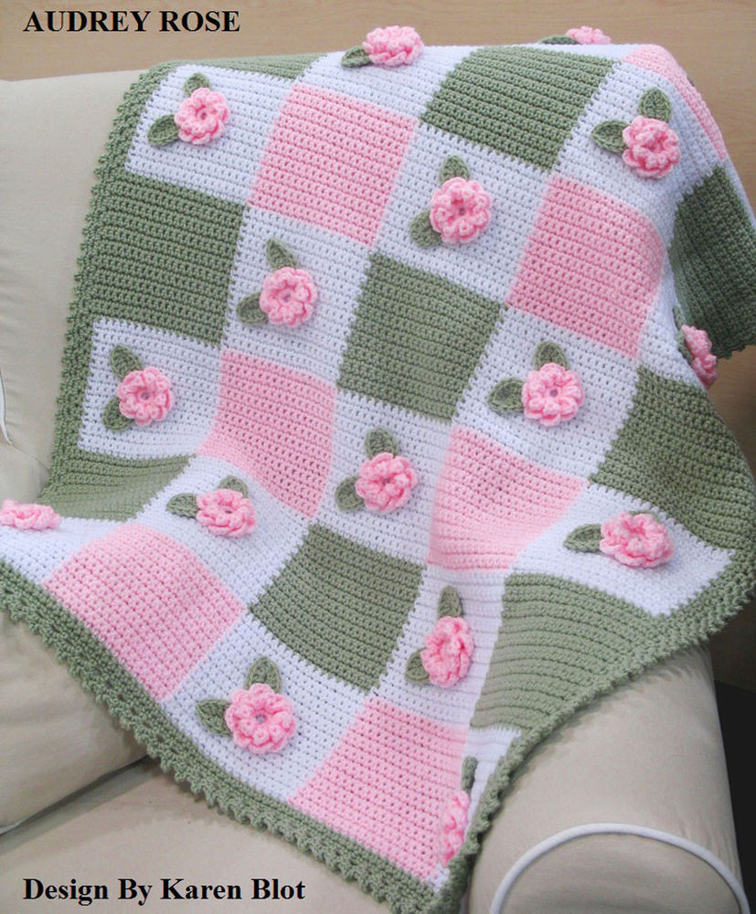 Baby Afghan Patterns Luxury Victorian Audrey Rose Baby Crochet Afghan Pattern 3 D Of Amazing 46 Ideas Baby Afghan Patterns