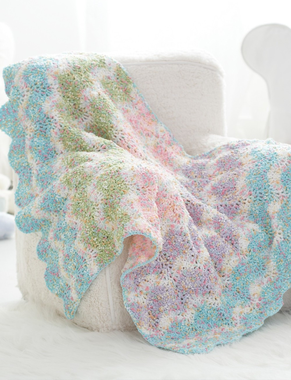 Baby Afghan Patterns New Sweet Pastel Waves Crochet Baby Blanket Pattern Of Amazing 46 Ideas Baby Afghan Patterns