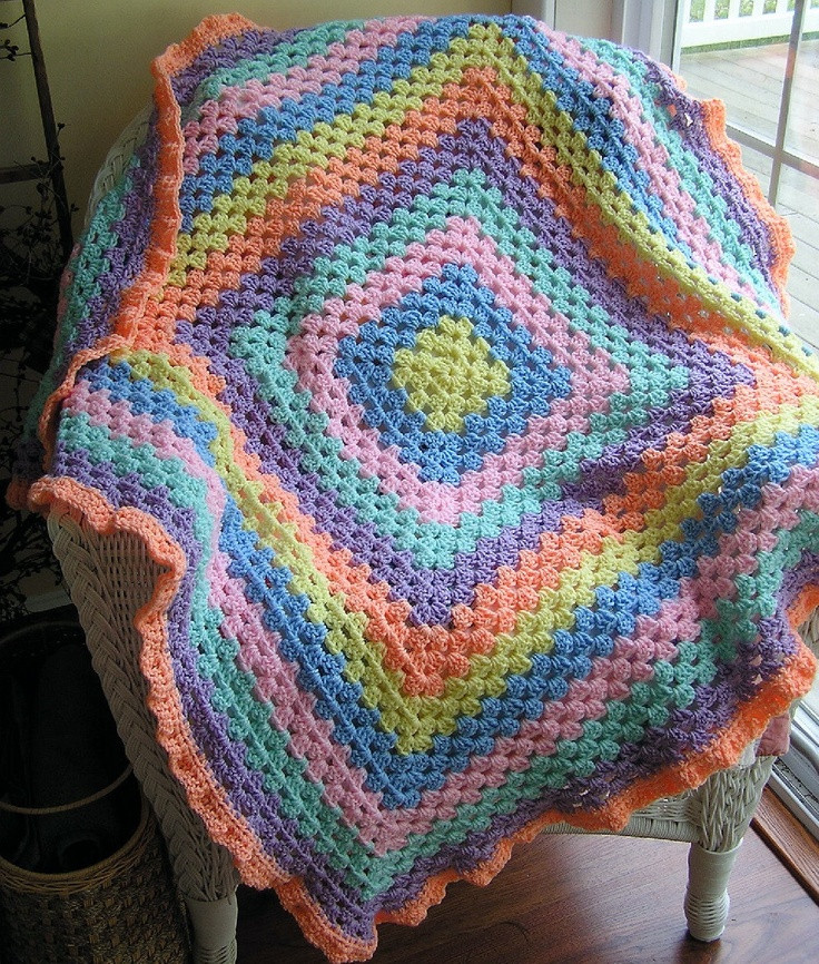 Baby Afghan Size Beautiful Crochet Baby toddler Blanket Afghan Wrap Granny Square Of Beautiful 44 Models Baby Afghan Size