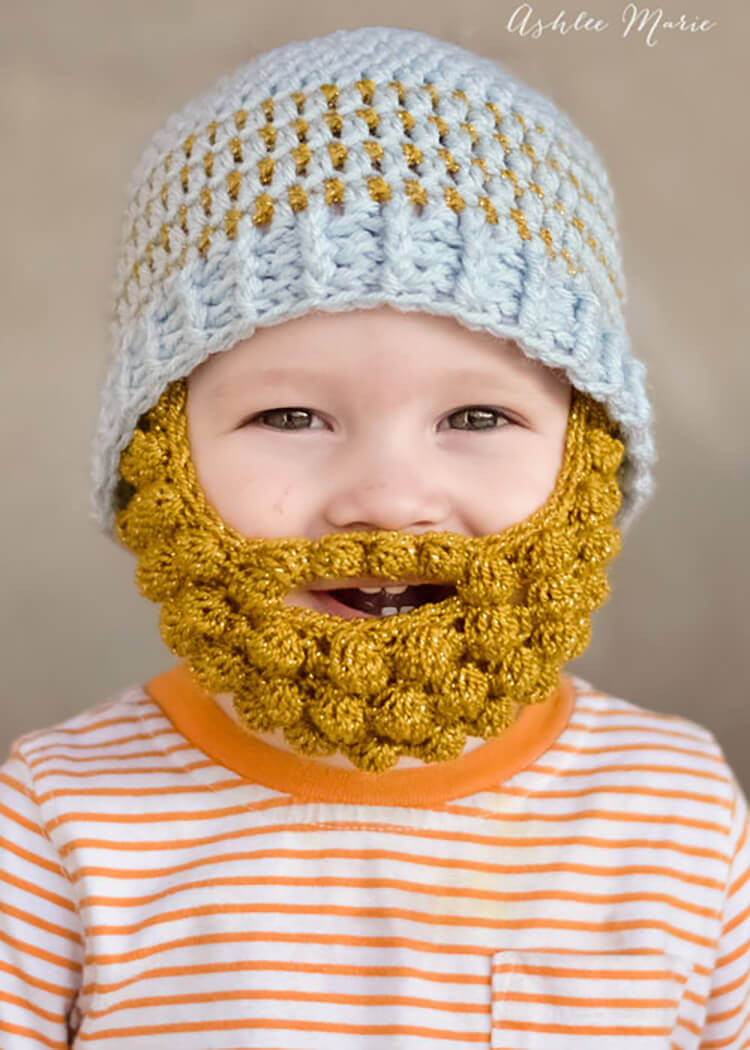 Baby Beanie Crochet Pattern Awesome these Crochet Baby Beards are the Of Amazing 43 Images Baby Beanie Crochet Pattern