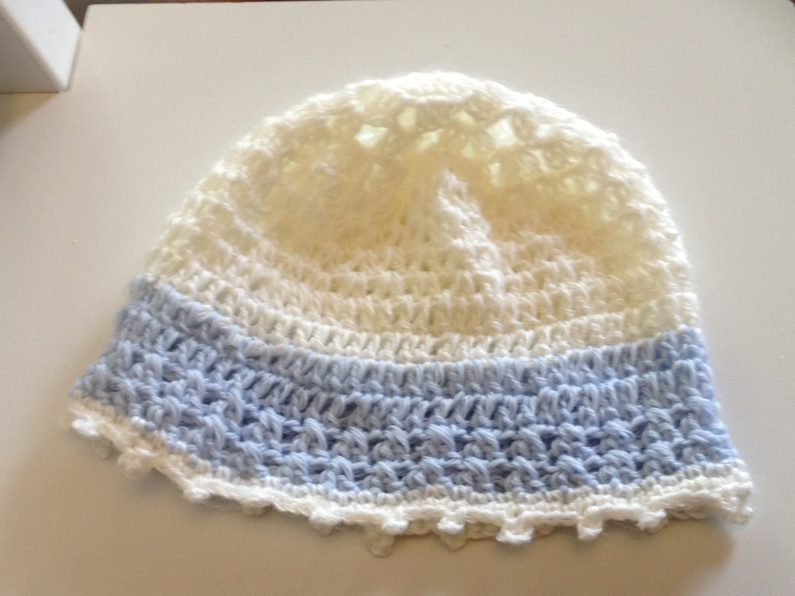 Created For You And Me Crochet baby boy beanie pattern