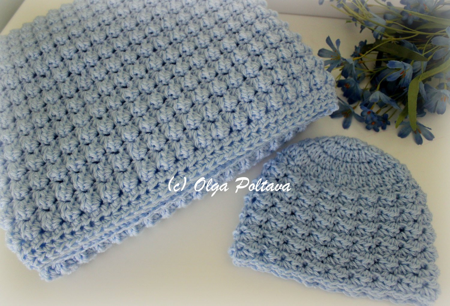Baby Blanket Patterns Awesome Baby Boy Set Crochet Pattern Baby Blanket and Hat Easy Of Delightful 50 Pictures Baby Blanket Patterns
