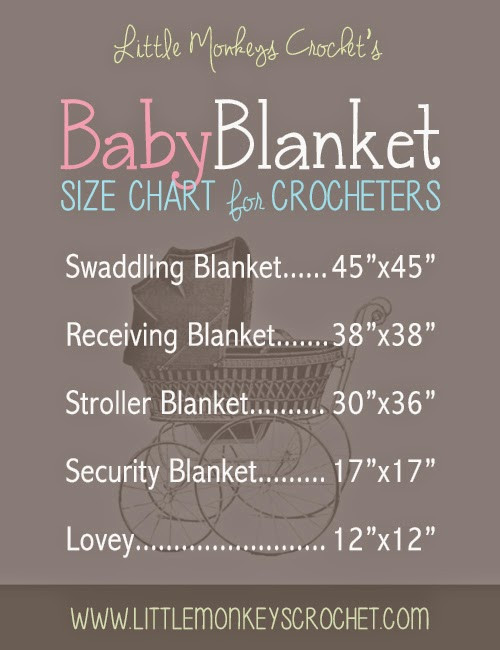 Baby Blanket Size Unique Cheat Sheets for the Crocheter U Create Of Great 43 Ideas Baby Blanket Size