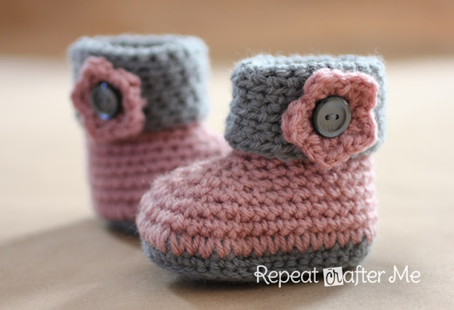 Baby Booties Crochet Pattern Lovely Crochet Cuffed Baby Booties Pattern Repeat Crafter Me Of Top 49 Pictures Baby Booties Crochet Pattern