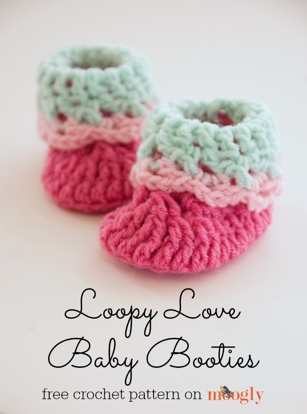 Baby Booties Crochet Pattern Unique Free Crochet Pattern Loopy Love Newborn Baby Booties Of Top 49 Pictures Baby Booties Crochet Pattern