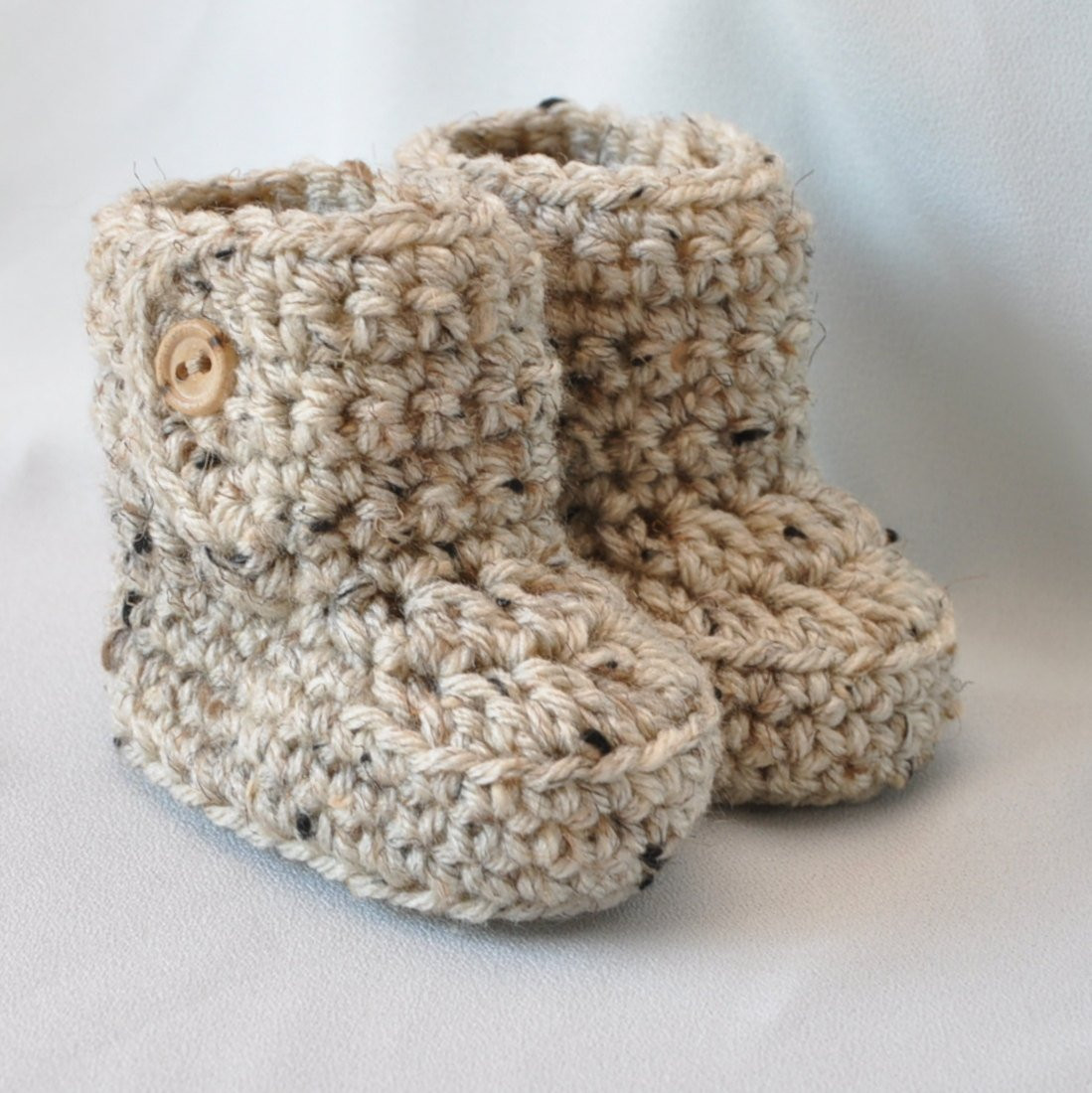 Baby Booties Pattern Awesome Baby Booties Crochet Baby Boots with button top Size 0 to 6 Of Amazing 50 Pics Baby Booties Pattern