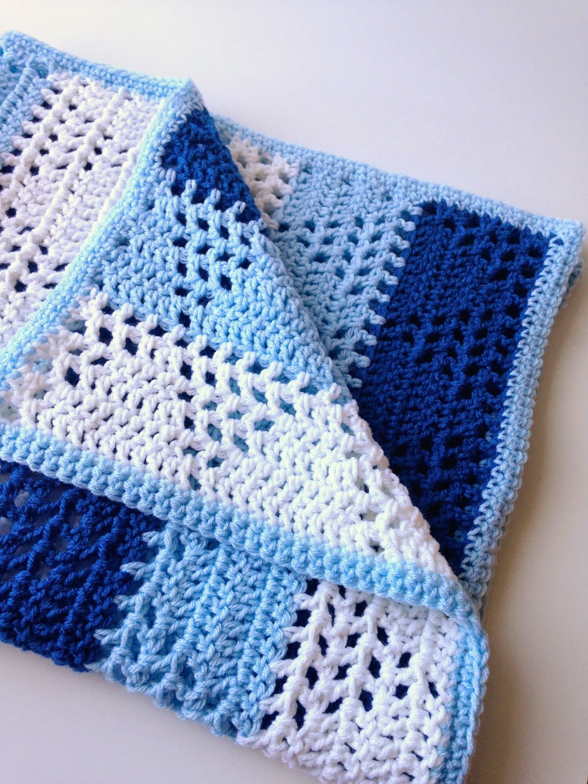 Baby Boy Crochet Blanket Patterns Awesome 5 Little Monsters Triangles & Stripes Baby Blanket Of Baby Boy Crochet Blanket Patterns Luxury Baby Blanket with Cabled Border Crochet Pattern