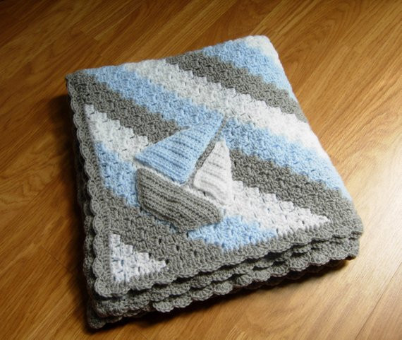 Baby Boy Crochet Blanket Patterns Awesome Crochet Baby Blanket Baby Boy Blanket Crochet Baby Afghan Of Baby Boy Crochet Blanket Patterns Lovely Navy and Teal for A Baby Boy