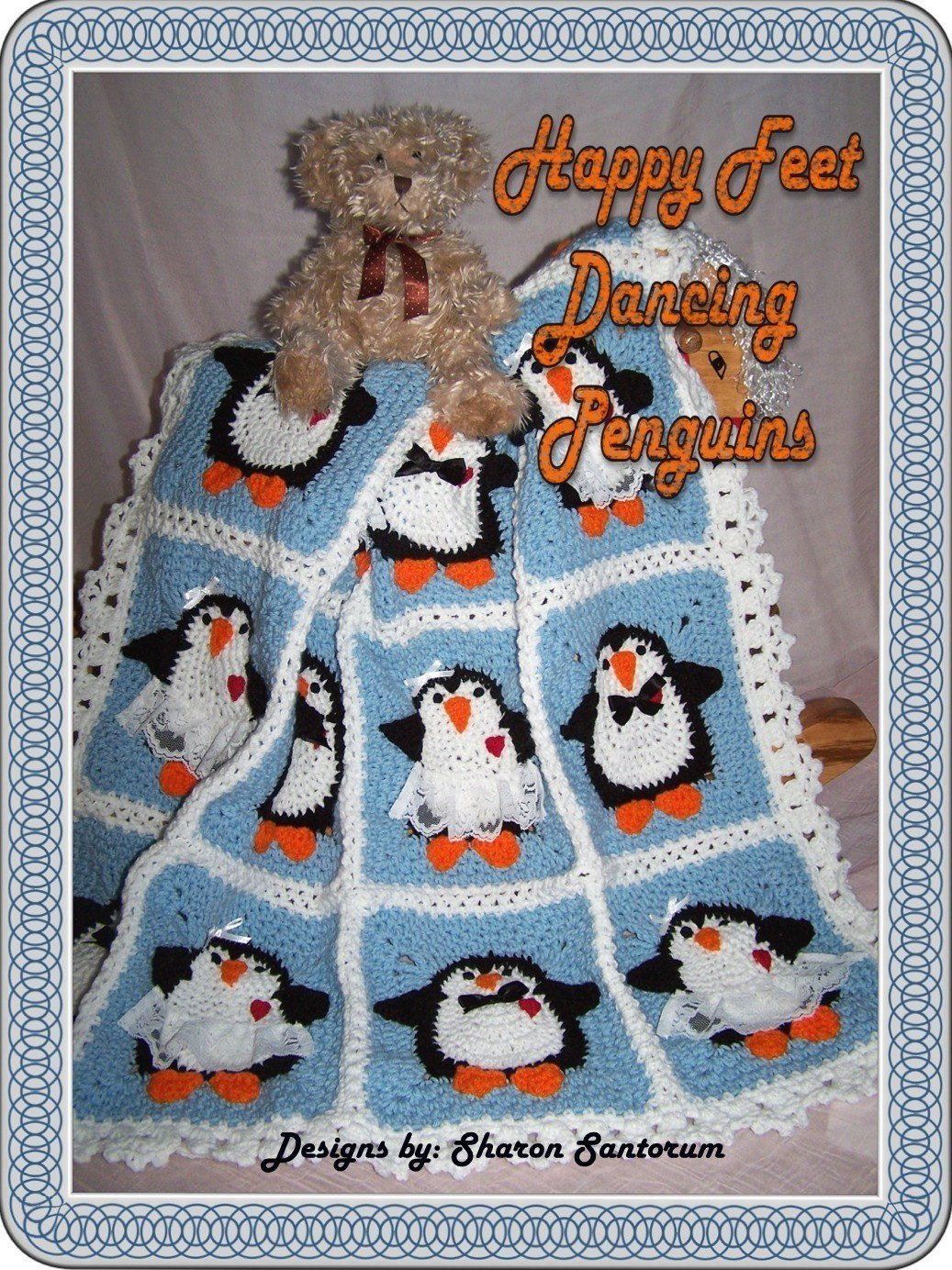 Baby Boy Crochet Blanket Patterns Beautiful Dancing Penguins Crochet Baby Afghan or Blanket Pattern Pdf Of Baby Boy Crochet Blanket Patterns Lovely Navy and Teal for A Baby Boy