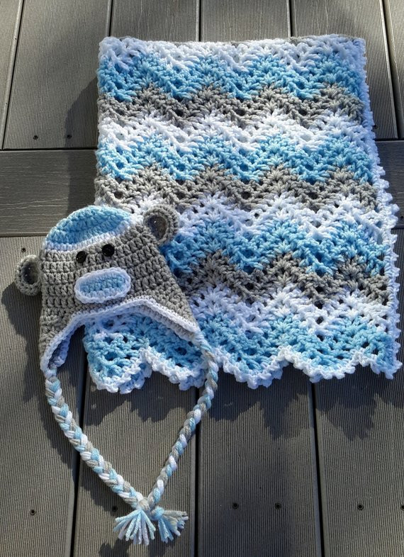 Baby Boy Crochet Blanket Patterns Elegant Baby Boy Chevron Ripple Baby Crochet Blanket Afghan Of Baby Boy Crochet Blanket Patterns Beautiful Marvelous Monkey Blankets Free Crochet Patterns