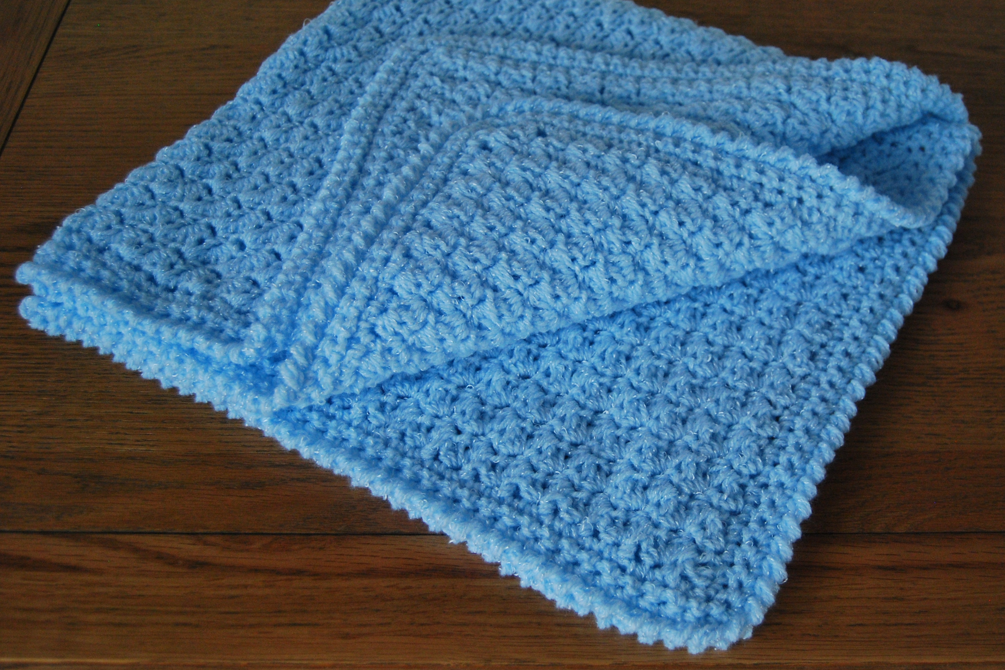 Beautiful Baby Boy Blanket Crochet Pattern for Pram