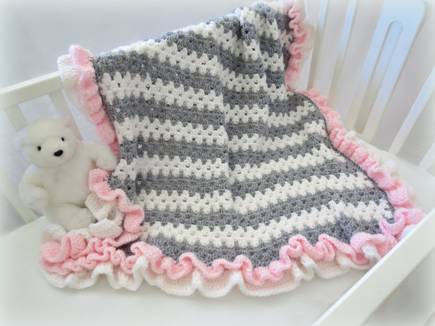 Baby Boy Crochet Blanket Patterns New Crochet Baby Blanket Pattern Baby Crochet Blanket Afghan Of Baby Boy Crochet Blanket Patterns Luxury Baby Blanket with Cabled Border Crochet Pattern