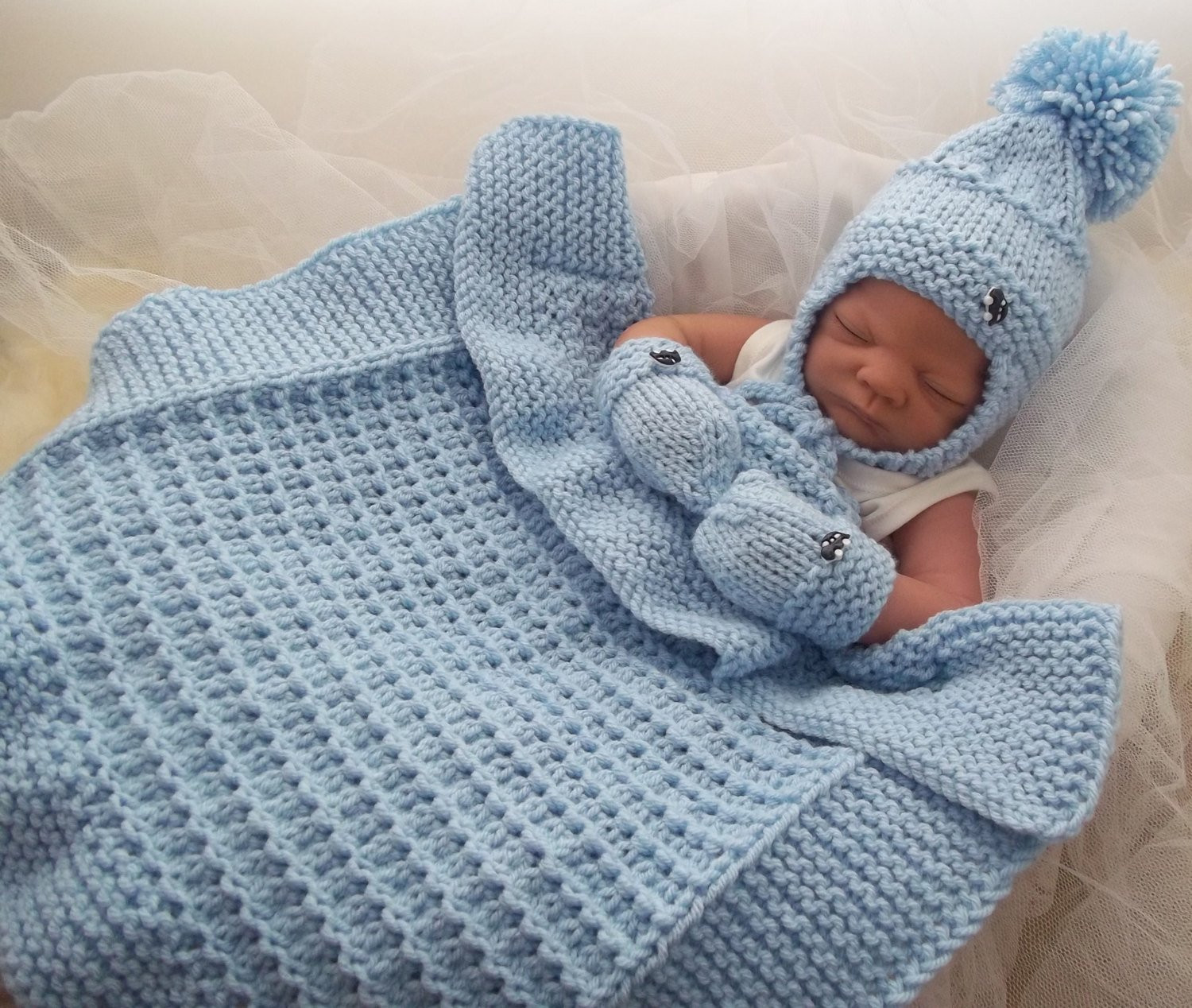 Baby Boy Knitted Blanket Beautiful Baby Knitting Pattern Chunky Baby Pram Blanket Hat & Mittens Of Incredible 43 Photos Baby Boy Knitted Blanket