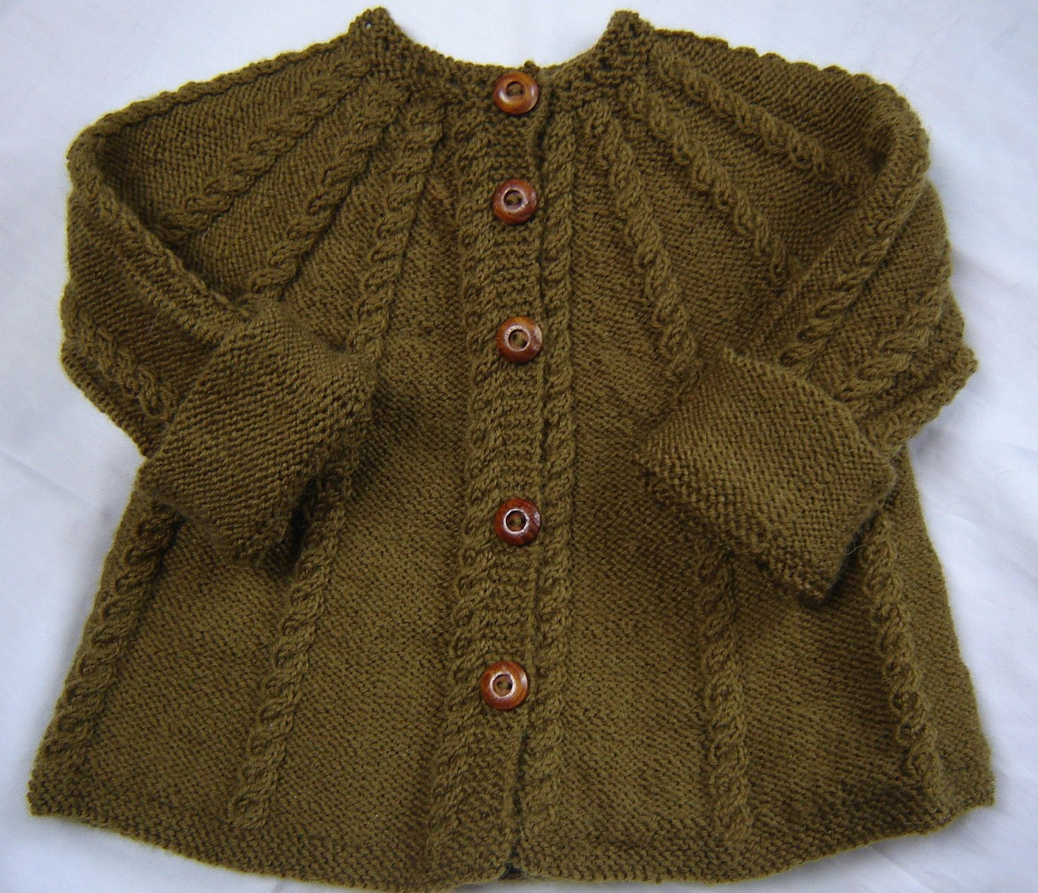 Baby Cardigan Knitting Pattern Elegant Baby Sweater Hand Knit Wool Olive Green Size 3m Of Adorable 48 Pics Baby Cardigan Knitting Pattern