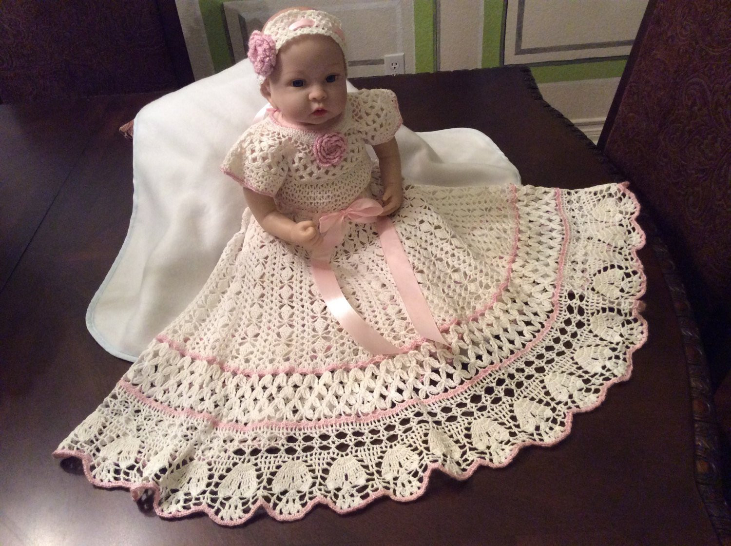 Baby Christening Gowns Inspirational Crochet Yoked Interchangeable Flower Christening Gown Pattern Of Incredible 40 Models Baby Christening Gowns