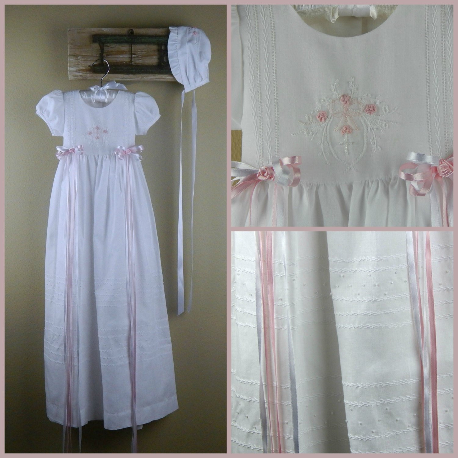 Long Baptism Gown Baby Girl Christening Gown 36 Long