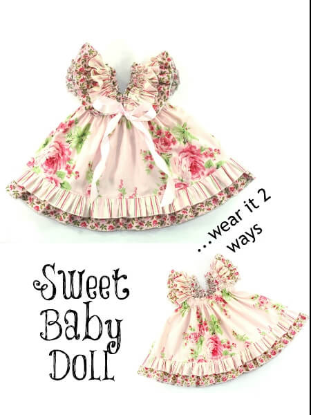Baby Clothes Patterns Awesome Sweet Baby Doll Dress Sewing Pattern Whimsy Couture Of Wonderful 46 Pictures Baby Clothes Patterns
